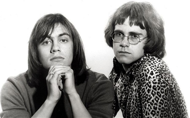 ELTON JOHN with lyricist Bernie Taupin shortly after they signed contracts with Dick James Music in 1968...AFF3T2 ELTON JOHN with lyricist Bernie Taupin shortly after they signed contracts with Dick James Music in 1968
